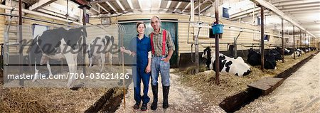 Portrait of Farmers in Barn, Ontario, Canada Stock Photo - Rights-Managed, Image code: 700-03621426
