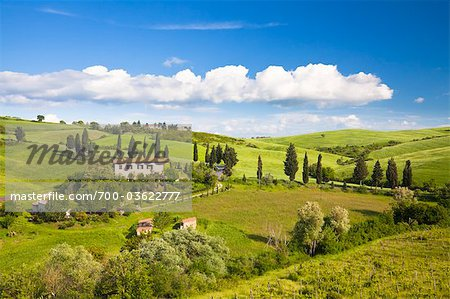 Farmhouse, Monticchiello, Tuscany, Italy Stock Photo - Rights-Managed, Image code: 700-03622777