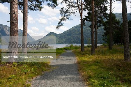 Path towards Water, Dalen, Telemark, Norway Stock Photo - Rights-Managed, Image code: 700-03622796