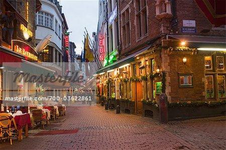 Rue des Bouchers, Brussels, Belgium Stock Photo - Premium Rights-Managed, Artist: Marco Cristofori, Code: 700-03622861
