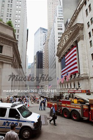 New York Stock Exchange, Wall Street, Manhattan, New York City, New York, USA Stock Photo - Rights-Managed, Image code: 700-03622915