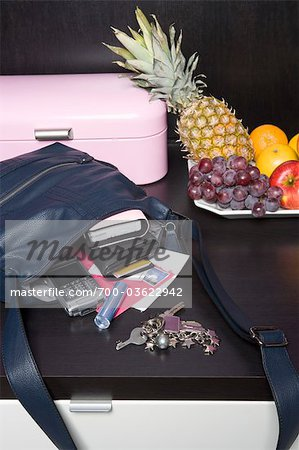 Handbag, Mail and Fruit Bowl Stock Photo - Rights-Managed, Image code: 700-03622942