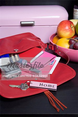 Handbag, Mail and Fruit Bowl Stock Photo - Rights-Managed, Image code: 700-03622943