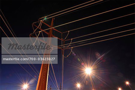 Looking Up at Power Lines Stock Photo - Rights-Managed, Image code: 700-03623027