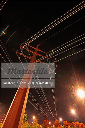 Looking Up at Power Lines Stock Photo - Rights-Managed, Image code: 700-03623028
