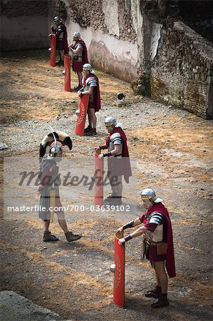 Historical Re-enactment to Celebrate the Founding of Rome on April 21, 753 BC, Rome, Italy Stock Photo - Rights-Managed, Image code: 700-03639102