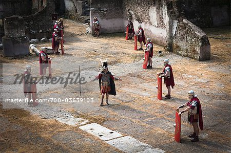 Historical Re-enactment to Celebrate the Founding of Rome on April 21, 753 BC, Rome, Italy Stock Photo - Rights-Managed, Image code: 700-03639103