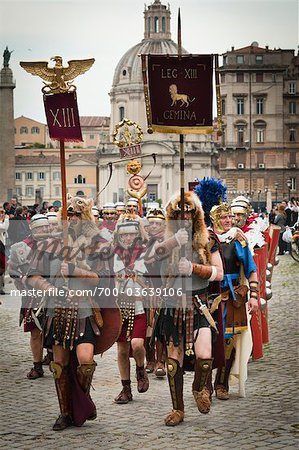 Historical Re-enactment to Celebrate the Founding of Rome on April 21, 753 BC, Rome, Italy Stock Photo - Rights-Managed, Image code: 700-03639106