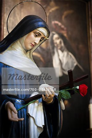 Statue of the Virgin Mary, Basilica di Sant'Agostino, Rome, Italy Stock Photo - Rights-Managed, Image code: 700-03639158