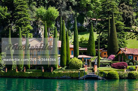 Lakefront Villa, Ossuccio, Lake Como, Lombardy, Italy Stock Photo - Rights-Managed, Image code: 700-03644366