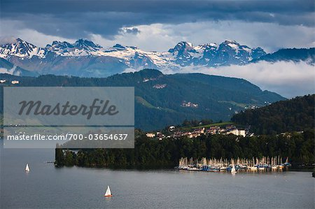 View of Marina, Lucerne, Switzerland Stock Photo - Rights-Managed, Image code: 700-03654637