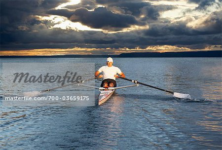 Man Rowing, Toronto, Ontario, Canada Stock Photo - Rights-Managed, Image code: 700-03659175