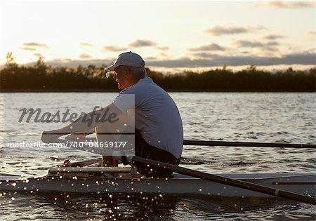 Man Rowing, Toronto, Ontario, Canada