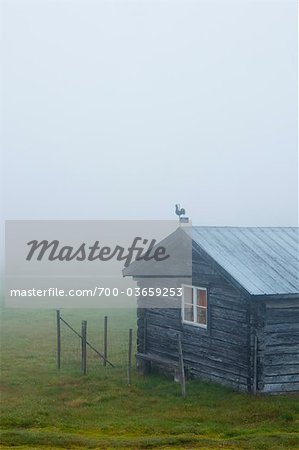 Rustic House in Mist Stock Photo - Rights-Managed, Image code: 700-03659253