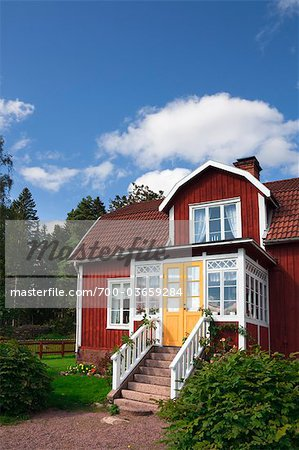 Red Wooden House, Katthult, Gibberyd, Smaland, Sweden Stock Photo - Rights-Managed, Image code: 700-03659284