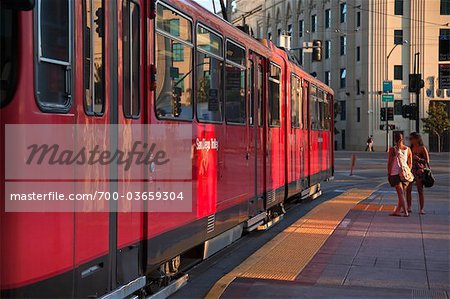 San Diego Trolley at Station, San Diego, California,  USA Stock Photo - Rights-Managed, Image code: 700-03659304