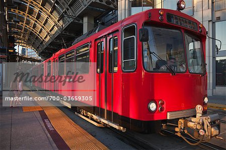 San Diego Trolley at Station, San Diego, California, USA Stock Photo - Rights-Managed, Image code: 700-03659305