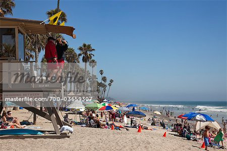 Lifeguards and Crowded Beach, San Clemente Beach, California, USA Stock Photo - Rights-Managed, Image code: 700-03659307