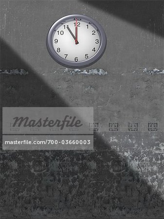 Clock on Wall Stock Photo - Rights-Managed, Image code: 700-03660003