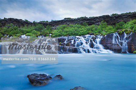 Hraunfossar Waterfalls, Borgarfjoraur, Iceland