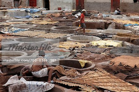 Leather Tannery, Marrakesh, Morocco Stock Photo - Rights-Managed, Image code: 700-03662567