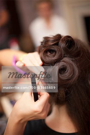 Bride Having Hair Done Stock Photo - Rights-Managed, Image code: 700-03665609