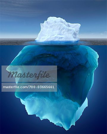 Underwater View of Iceberg Stock Photo - Rights-Managed, Image code: 700-03665661