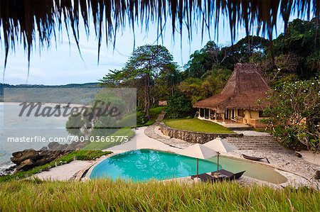 Swimming Pool and Villa at Nihiwatu Resort, Sumba, Lesser Sunda Islands, Indonesia Stock Photo - Rights-Managed, Image code: 700-03665775