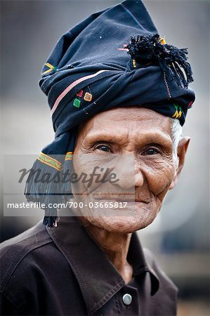 Portrait of Man, Waihola Village, Sumba, Indonesia Stock Photo - Rights-Managed, Image code: 700-03665817