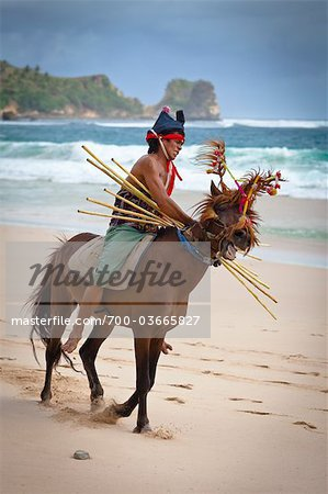 Pasola Warrior, Sumba, Indonesia Stock Photo - Rights-Managed, Image code: 700-03665827