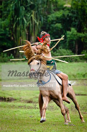 Pasola Warrior, Sumba, Indonesia Stock Photo - Rights-Managed, Image code: 700-03665828