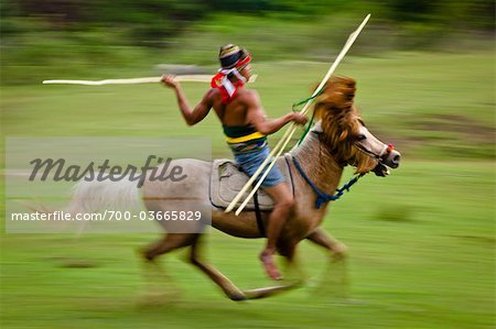 Pasola Warrior, Sumba, Indonesia Stock Photo - Rights-Managed, Image code: 700-03665829