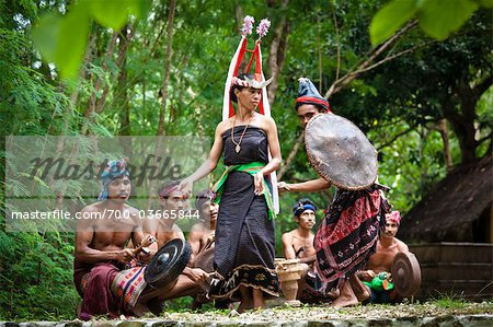 Traditional Dancers, Nihiwatu, Sumba, Indonesia Stock Photo - Rights-Managed, Image code: 700-03665844