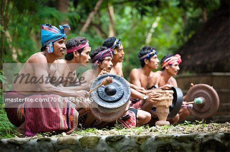 Traditional Musicians, Nihiwatu, Sumba, Indonesia Stock Photo - Rights-Managed, Image code: 700-03665845