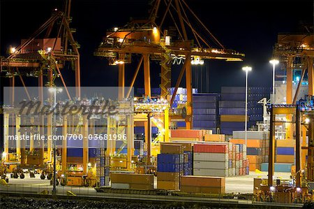 Crane, Vancouver, British Columbia, Canada Stock Photo - Rights-Managed, Image code: 700-03681996