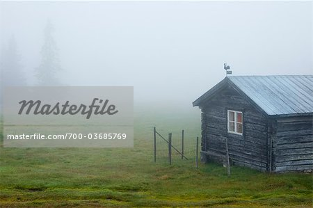 Hut in Mist, Sweden Stock Photo - Rights-Managed, Image code: 700-03685769
