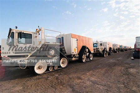 Large Tracked Vehicles, Prudhoe Bay, Alaska, USA Stock Photo - Rights-Managed, Image code: 700-03696991