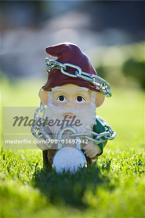 Gnome Tied Up in Chains Stock Photo - Rights-Managed, Image code: 700-03697942