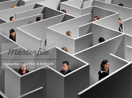 People in Large Maze Stock Photo - Rights-Managed, Image code: 700-03698129