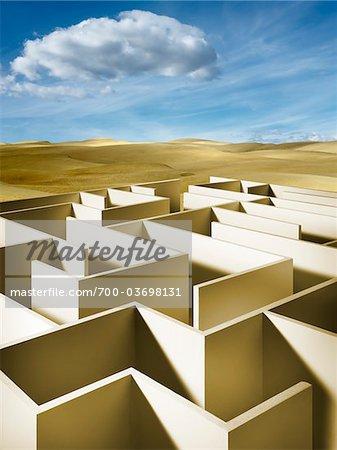 Maze in Desert
