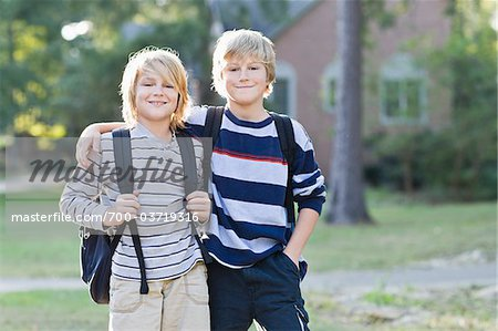 Brothers Going to School Stock Photo - Rights-Managed, Image code: 700-03719316