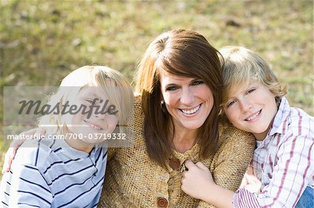 Portrait of Mother and Sons Stock Photo - Rights-Managed, Image code: 700-03719332