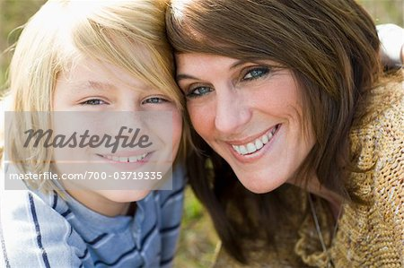 Close-Up of Mother and Son Stock Photo - Rights-Managed, Image code: 700-03719335