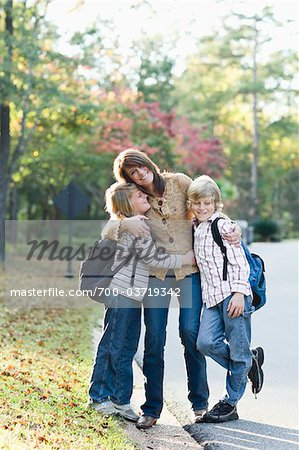 Mother Taking Sons to School Stock Photo - Rights-Managed, Image code: 700-03719342