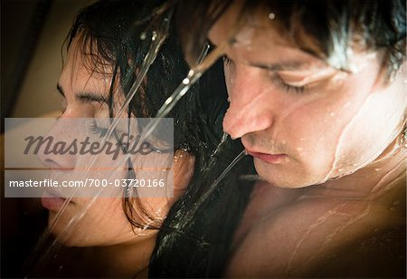 Couple Taking a Shower Together Stock Photo - Rights-Managed, Image code: 700-03720166