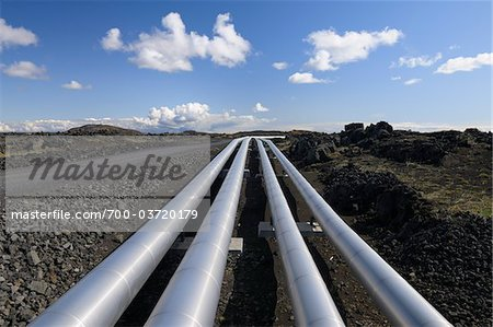 Pipes, Geothermal Energy Plant, Blue Lagoon, Grindavik, Reykjanes, South Iceland, Iceland Stock Photo - Rights-Managed, Image code: 700-03720179