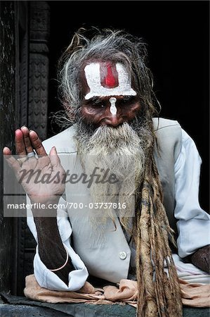 Sadhu, Pashupatinath Temple, Kathmandu, Bagmati, Madhyamanchal, Nepal Stock Photo - Rights-Managed, Image code: 700-03737816