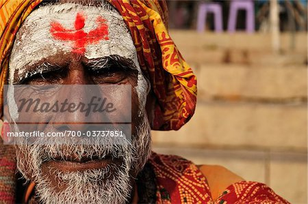 Sadhu, Varanasi, Varanasi District, Uttar Pradesh, India Stock Photo - Rights-Managed, Image code: 700-03737851