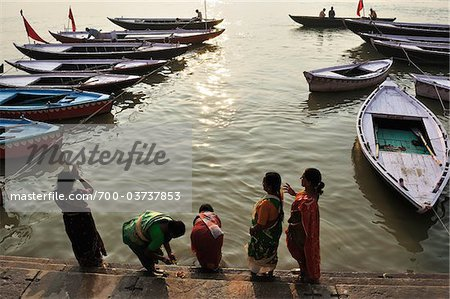 Ritual Bathing, River Ganges, Varanasi, Varanasi District, Uttar Pradesh, India Stock Photo - Rights-Managed, Image code: 700-03737853