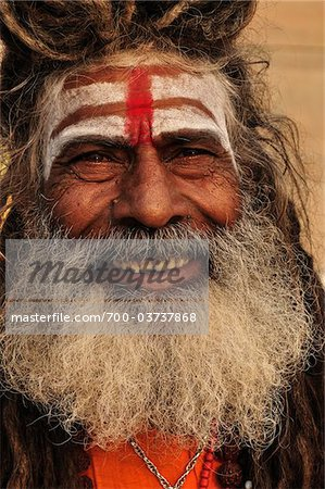 Sadhu, Varanasi, Varanasi District, Uttar Pradesh, India Stock Photo - Rights-Managed, Image code: 700-03737868